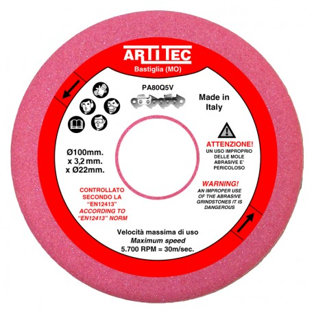 EXTRA ABRASIVE GRINDSTONE FOR CHAIN SAW SHARPENER (MP) 100x3,2x22
