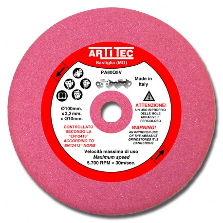EXTRA ABRASIVE GRINDSTONE FOR CHAIN SAW SHARPENER 100x3,2x10